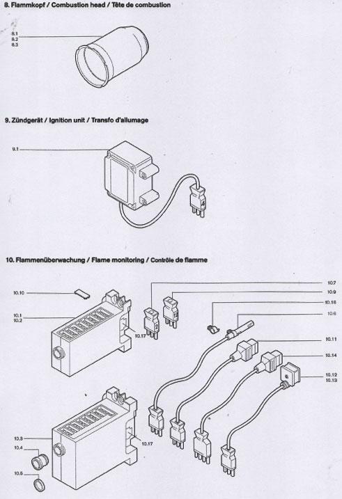 weishaupt ersatzteile f u00fcr gasbrenner und  u00d6lbrenner - spare parts for burner