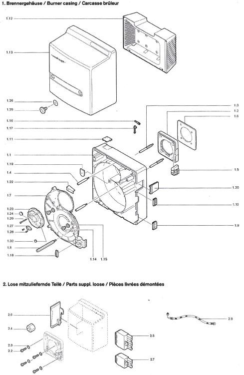 weishaupt ersatzteile f r gasbrenner und lbrenner spare. Black Bedroom Furniture Sets. Home Design Ideas